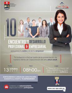 Décimo Encuentro para el Desarrollo Profesional y Empresarial